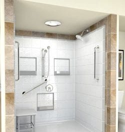 Walk-in Bathtubs and Handicap Shower Systems Feature Preinstalled Grab Bars