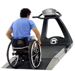 Treadmill Features Universal Design for Wheelchair Users and Runners