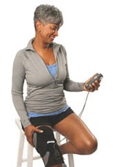Muscle Stimulator Supplements Home PT to Patients Post-TKR and ACL Repair
