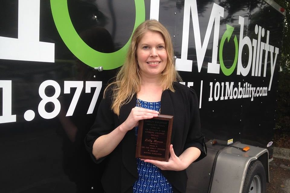 101 Mobility and Employee Kelly Mercer Recognized at Disability Employment Awareness Month Awards