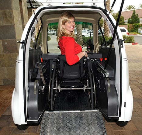 Electric Vehicle Customized for Wheelchair Users Debuts at Abilities Expo