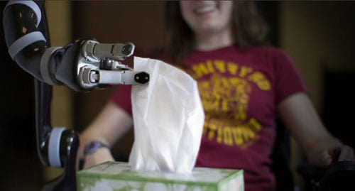 Assistive Robotic Device Offers Ability to Grasp, Eat, Drink, and Reach