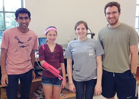 Students Use 3-D Printing to Produce Pink, Prosthetic Arm
