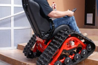 Tankchair Promotes Confidence During Exploration of Uneven Terrain