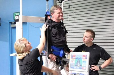 Sam Schmdit Visits Project Walk Paralysis Recovery Center, Shares Thoughts on Recovery Process