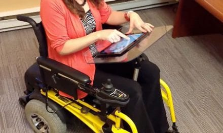 Laptop Wheelchair Tray System Provides Range of Work Surfaces and Accessories