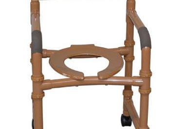 Wood Tone Adjustable Shower Chair Targets Longevity and Durability