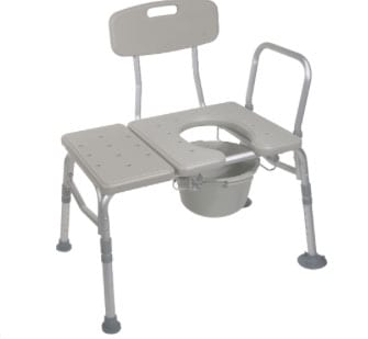 Product Combines Transfer Bench and Commode Into One