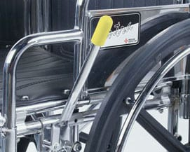 Wheelchair Brake Lever Extension Eases Lever Access, Targets Fall Reduction