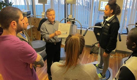 PT Students Get Hands-on with Isokinetics During Biodex Visit