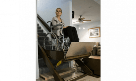 Wheelchair Lift with Inclined Platform Designed for Safety