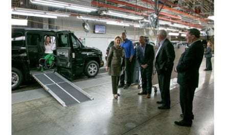Hillary Clinton Tours AM General Plant, Witnesses Demo of MV-1 Vehicle