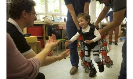 Children with Spinal Muscular Atrophy Use Exoskeleton to Walk