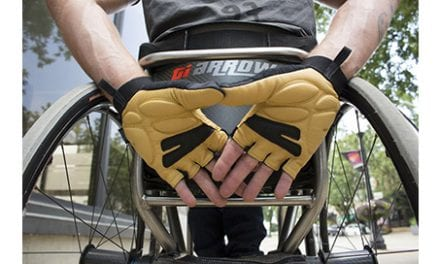 Chiba Wheelchair Gloves Help Enable More Comfortable Wheelchair Pushing