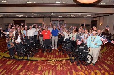 Vector Security Assembles Wheelchairs for Donation to Vets