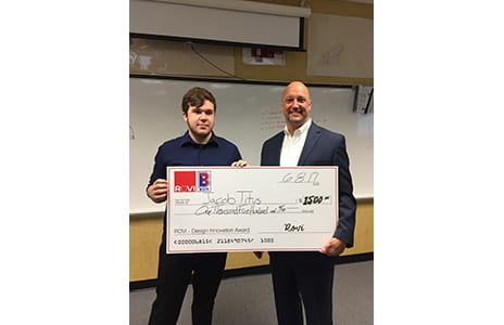 BCIT Student Jacob Titus Receives ROVI Scholarship