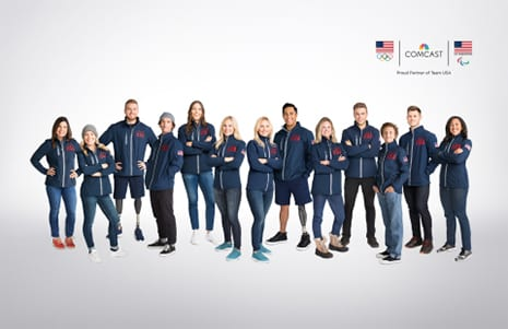 Comcast Announces Team USA Olympic/Paralympic Athlete Partners
