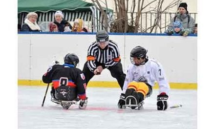 Learn to Play Sled Hockey with the New York Rangers Via Helen Hayes Hospital