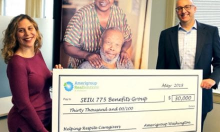 Amerigroup Washington Donates $30K to Develop Respite Care Online Training
