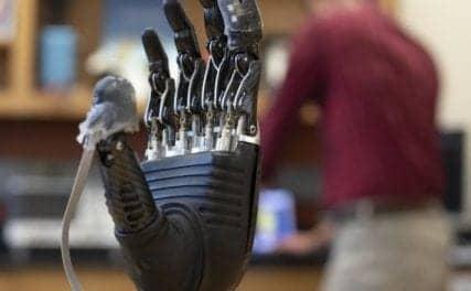 Johns Hopkins Engineers Create an E-Dermis for Prosthetic Hands