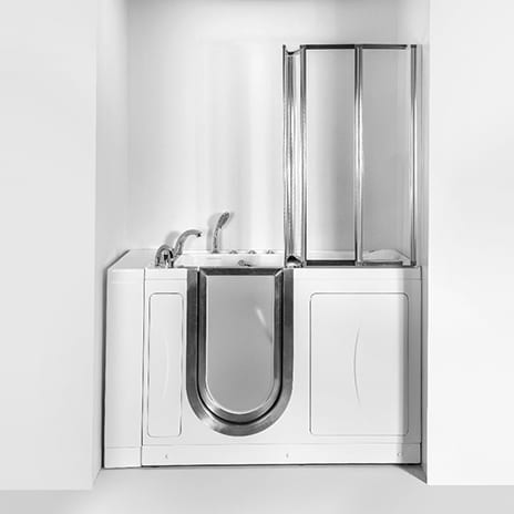 Walk-In Tub Screen Enables Privacy and Safety for Persons with Mobility Issues