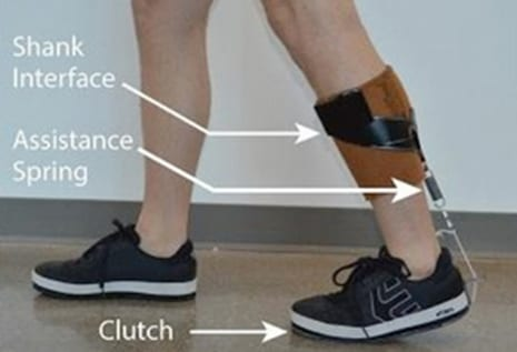 Ankle Exoskeleton Designed to Be Worn Under Clothes