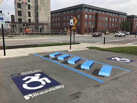 Inaugural Drive for Inclusion Action Includes 3D Parking Spaces