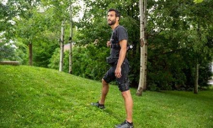 Portable Exosuit Assists with Walking and Running Uphill