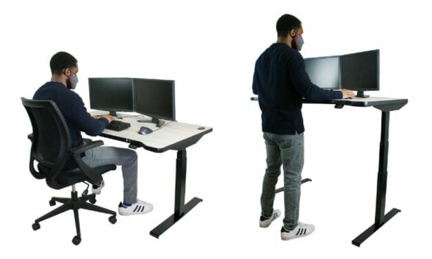 New Sit-to-Stand Workstation Can Also Accommodate Wheelchairs