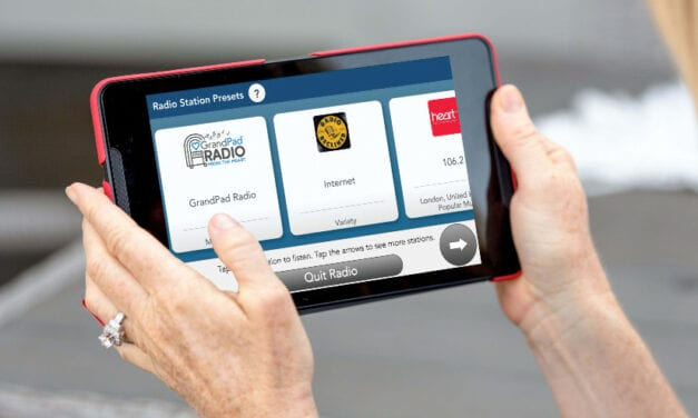 GrandPad Adds 24/7 Streaming Radio to Free Apps for Seniors